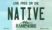 Native New Hampshire State License Plate Magnet M-11167