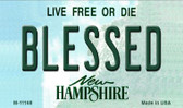 Blessed New Hampshire State License Plate Magnet M-11168