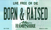 Born and Raised New Hampshire State License Plate Magnet M-11169