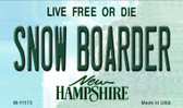 Snow Boarder New Hampshire State License Plate Magnet M-11173