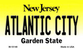 Atlantic City New Jersey State License Plate Magnet M-10149