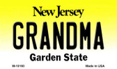 Grandma New Jersey State License Plate Magnet M-10160
