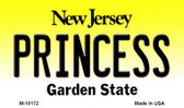 Princess New Jersey State License Plate Magnet M-10172