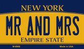 Mr and Mrs New York State License Plate Magnet M-8966