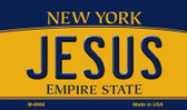 Jesus New York State License Plate Magnet M-8968