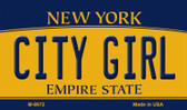 City Girl New York State License Plate Magnet M-8972