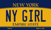 NY Girl New York State License Plate Magnet M-8974