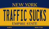 Traffic Sucks New York State License Plate Magnet M-8976