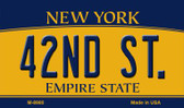 42nd St New York State License Plate Magnet M-8980