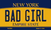 Bad Girl New York State License Plate Magnet M-8986