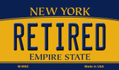 Retired New York State License Plate Magnet M-8992