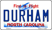 Durham North Carolina State License Plate Magnet M-6475