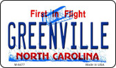 Greenville North Carolina State License Plate Magnet M-6477