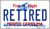 Retired North Carolina State License Plate Magnet M-6480
