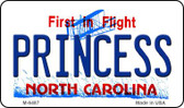 Princess North Carolina State License Plate Magnet M-6487