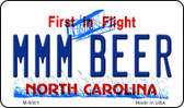 MMM Beer North Carolina State License Plate Magnet M-6501