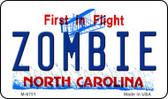 Zombie North Carolina State License Plate Magnet M-6751