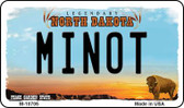 Minot North Dakota State License Plate Magnet M-10706