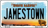 Jamestown North Dakota State License Plate Magnet M-10709