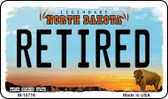Retired North Dakota State License Plate Magnet M-10716