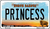 Princess North Dakota State License Plate Magnet M-10723