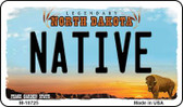 Native North Dakota State License Plate Magnet M-10725