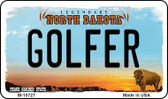 Golfer North Dakota State License Plate Magnet M-10727