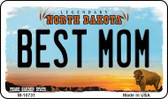 Best Mom North Dakota State License Plate Magnet M-10731