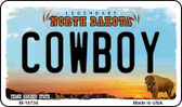 Cowboy North Dakota State License Plate Magnet M-10734