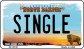 Single North Dakota State License Plate Magnet M-10739