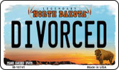 Divorced North Dakota State License Plate Magnet M-10741