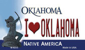 I Love Oklahoma State License Plate Novelty Magnet M-6233