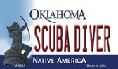 Scuba Diver Oklahoma State License Plate Novelty Magnet M-6247
