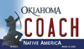 Coach Oklahoma State License Plate Novelty Magnet M-6251