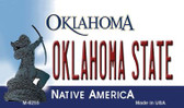 Oklahoma State License Plate Novelty Magnet M-6255