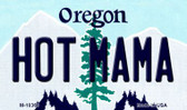 Hot Mama Oregon State License Plate Magnet M-10363
