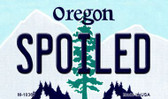 Spoiled Oregon State License Plate Magnet M-10367