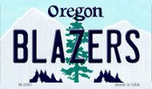 Blazers Oregon State License Plate Magnet M-2587