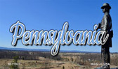 Pennsylvania Delaware City Skyline Magnet M-11627