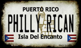 Philly Rican Puerto Rico State License Plate Magnet M-5032