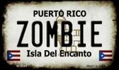 Zombie Puerto Rico State License Plate Magnet M-6869