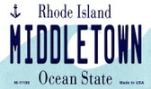 Middletown Rhode Island State License Plate Novelty Magnet M-11196