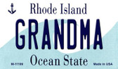 Grandma Rhode Island State License Plate Novelty Magnet M-11199