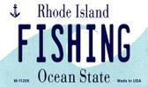 Fishing Rhode Island State License Plate Novelty Magnet M-11206