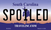 Spoiled South Carolina State License Plate Magnet M-6293