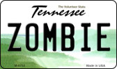 Zombie Tennessee State License Plate Magnet M-6753
