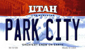 Park City Utah State License Plate Magnet M-10189