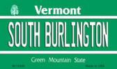 South Burlington Vermont State License Plate Novelty Magnet M-10669