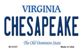 Chesapeake Virginia State License Plate Magnet M-10107