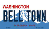 Bell Town Washington State License Plate Magnet M-8684